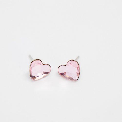 Náušnice srdiečko ružové